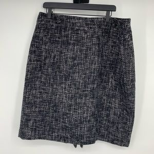 Ann Taylor tweed gray and black skirt sz 18 career